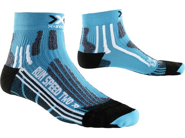 X-Socks Run Speed Two Socks Women Turquoise/Black